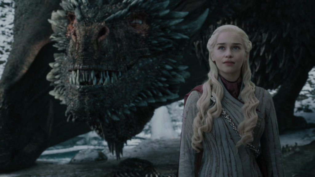 Daenerys Targaryen with her dragon