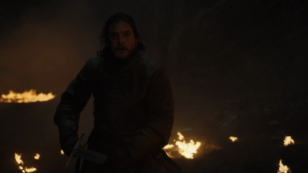 jon snow in attacking mode