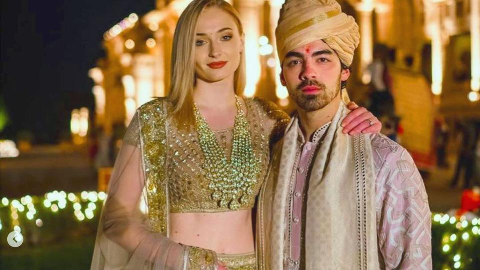 Sophie Turner and Her Husband in indian dress