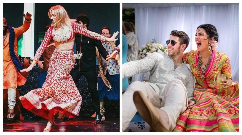 sophie turner is dancing in priyanka nick wedding sangeet