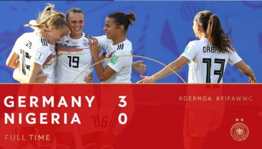 Germany beat Nigeria by 3 goals
