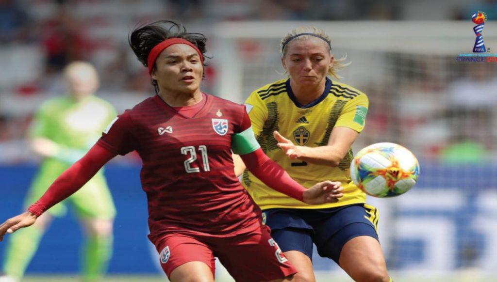 Kanjana Sung-Ngoen scores a goal