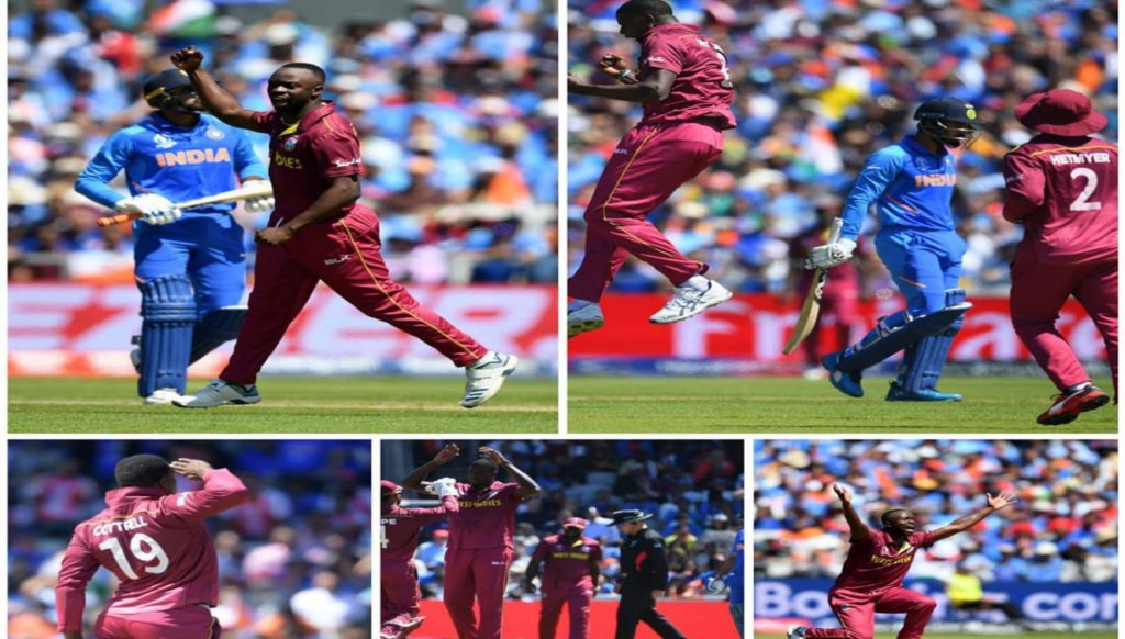West Indies restricts India to 268 runs