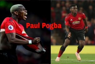 aggressive paul pogba during match