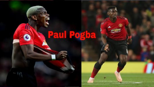 aggressive paul pogba during match