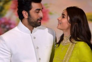 alia bhatt and ranbir kapoor in the temple