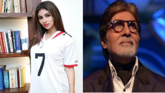 amitabh bachchan and mouni roy in the set of brahmastra