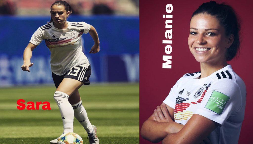 melanie and sara from germany women's football team
