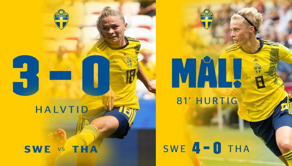 the goals of rolfo and hurtig leads sweden by 4 goals