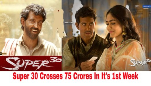 Hrithik Roshans Super 30 Crosses 75 Crores In Its First Week