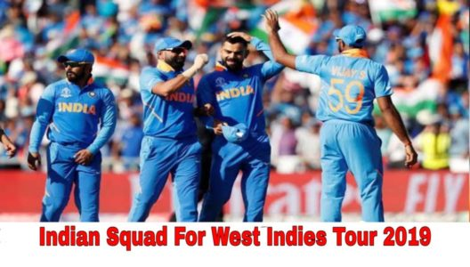 Indian squad for west indies tour 2019