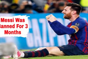 Messi was banned for 3 months