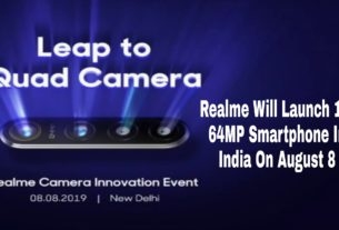 Realme will launch first 64mp smartphone in india on august 8