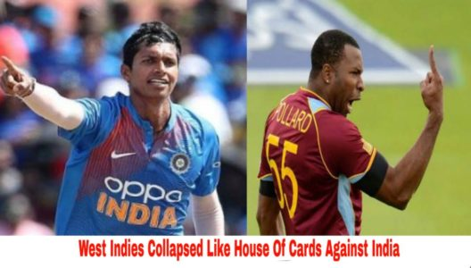 West Indies Collapsed Like House Of Cards Against India