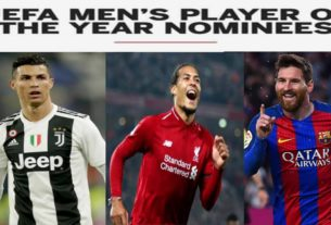 uefa men's player of the year nominees