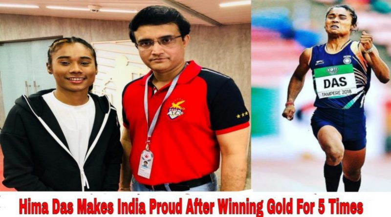 Hima Das makes India proud after winning gold for 5 times