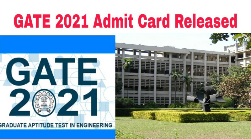 GATE 2021 admit card is out Check how to download hall ticket iit bombay