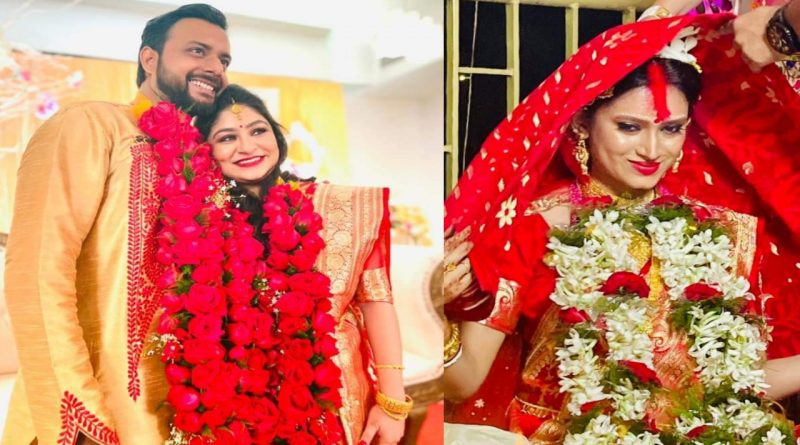 Tollywood actor Indrasish Roy and Souravi Tarafdar marriage photo girlfriend boyfriend turns into husband wife