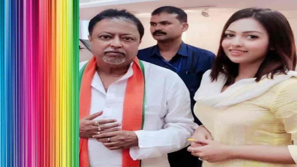 BJP youth Leader Pamela Goswami with Senior Leader Mukul Roy