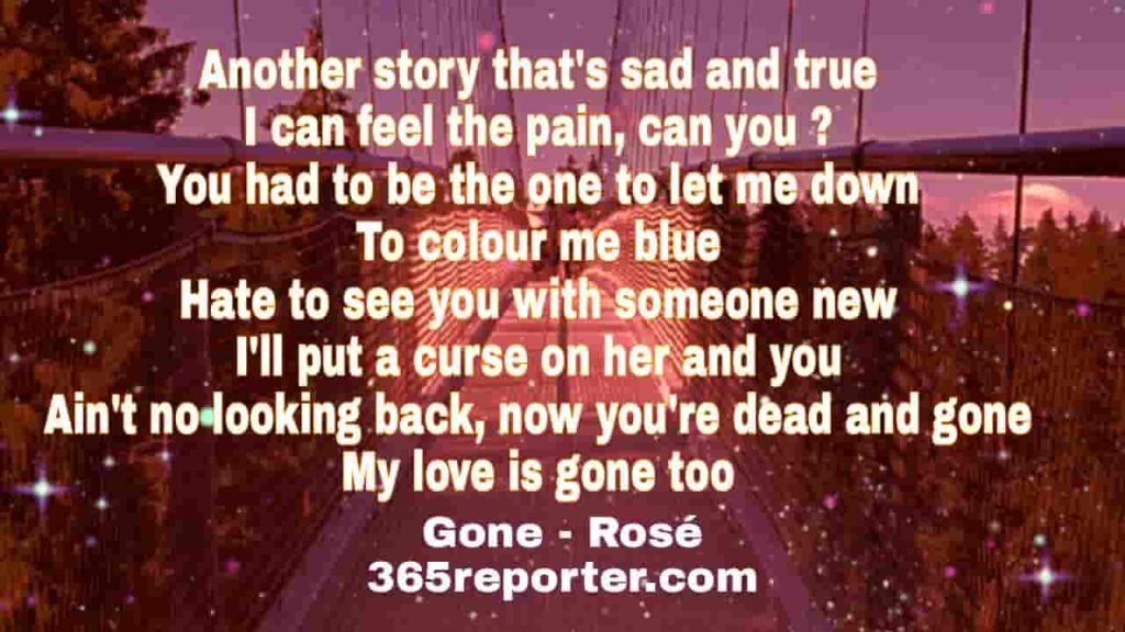 gone song lyrics rose