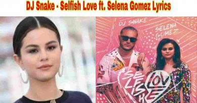 dj snake selfish love ft selena gomez lyrics
